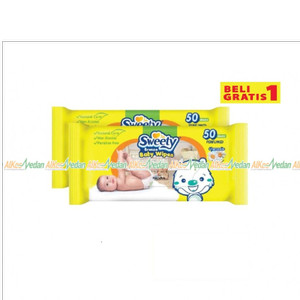 SWEETY WIPES BRONZE BOGO BABY 50 SHEETS TISU BASAH BABY