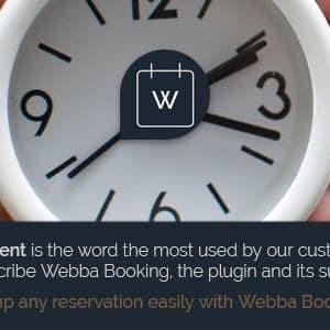 Pemesanan Webba - Plugin Pengangkatan & Pemesanan WordPress