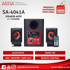 ARISA SA-4041A Portable Speaker Red