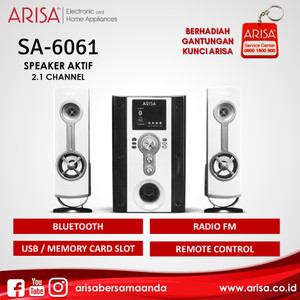 ARISA SA-6061 Portable Speaker White