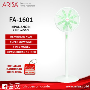 ARISA FA-1601 Kipas Angin Berdiri White Green