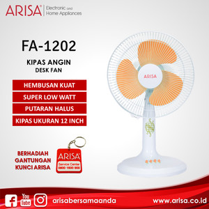 ARISA FA-1202 Kipas Angin Meja White Orange
