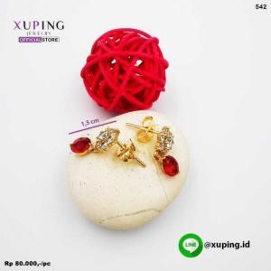 XUPING ANTING TUSUK JURAI RED GOLD ZIRCON 0151190408