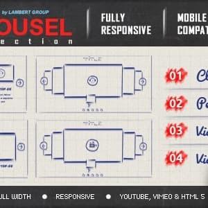 Carousel Responsif Multimedia