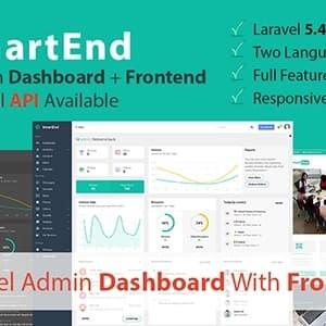 SmartEnd - Laravel Admin Dashboard dengan Frontend dan Restful AP