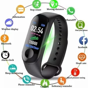SMART WATCH Mi BAND M3 / JAM TANGAN INTELLIGENCE HEALTH BRACELET