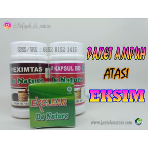 Obat Herbal Eksim Kering/Basah De Nature