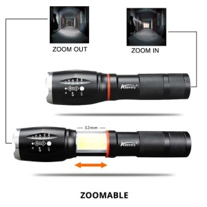 Murah! TaffLED Senter LED Torch Cree XM-L T6 8000 Lumens - E17