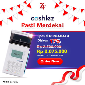 Cashlez Reader Printer - Putih