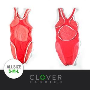 Baju Renang Swimsuit Transparan Leotard (Model Arena Speedo Mizuno)