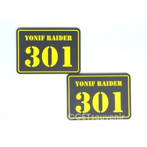 Label emblem karet patch rubber custom ukuran standar 200-300pcs