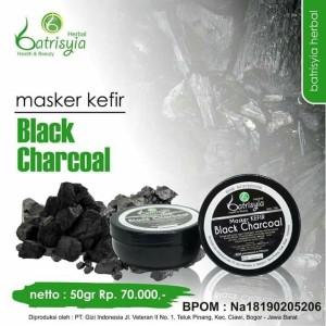 Masker Kefir Black Charcoal 50gr/Masker Kefir Batrisyia/Masker Jerawat