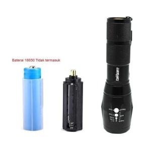 Murah! TaffLED Tactical Flashlight Cree XM-L2 2000 Lumens