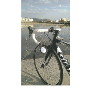 Bar End Bike Mirror Adjustable 360° Stainless Steel Safe Rearview Mirror 62mm