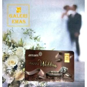 Emas logam mulia Antam gift series happy wedding 1 gram