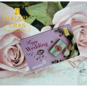 Emas logam mulia Antam gift series happy wedding 0,5 gram
