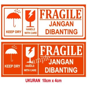 STICKER LABEL FRAGILE / STICKER OLSHOP LABEL