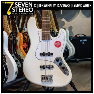 Squier Affinity Jazz Bass Olympic White