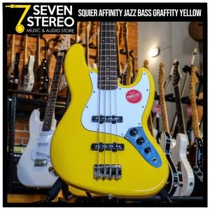 Squier Affinity Jazz Bass Graffity Yellow