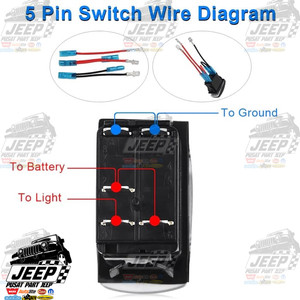 Jual 5 Pin Toggle Rocker Switch 12v Saklar Untuk Bumper Light Bar Kota Administrasi Jakarta Pusat Pusat Part Jeep Tokopedia