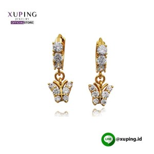XUPING ANTING CLIP MOTIF KUPU KUPU GOLD ZIRCON 0161190264
