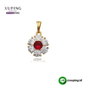 XUPING LIONTIN BUNGA MATA MERAH GOLD ZIRCON 0141190404