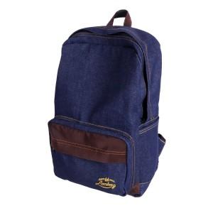 Lomberg Navy Backpack - Tas Ransel Denim Suede - Biru Tua
