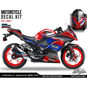 Decal Ninja 250 FI Red Black Racing DG Stiker