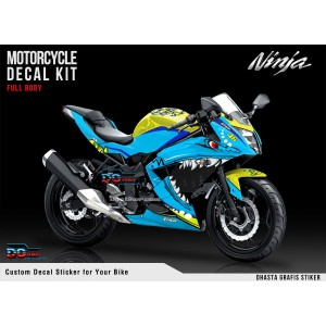 Decal Sticker Ninja 250 RR Mono Shark DG Stiker