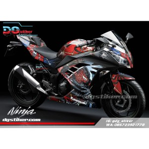 Decal striping ninja 250 fi Spiderman DG Stiker