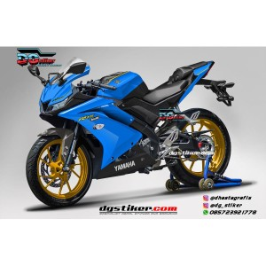 Decal Striping Full Body R15 V3 Azure Blue Dark DG Stiker
