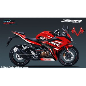 Decal Striping CBR150R Merah Sporty DG Stiker