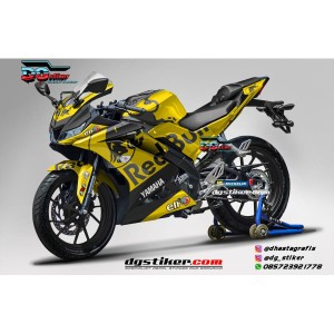 Decal Striping Full Body R15 V3 Kuning Redbull Tech3 DG Stiker