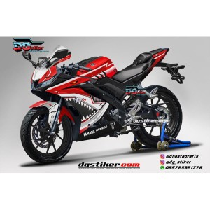 Decal Striping Full Body R15 V3 Merah Shark Hitech DG Stiker