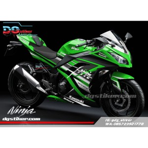 Decal sticker ninja 250 fi Hijau racing team DG Stiker