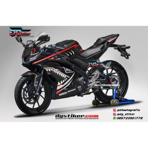 Decal Striping Full Body R15 V3 Hitam Shark Hitech DG Stiker
