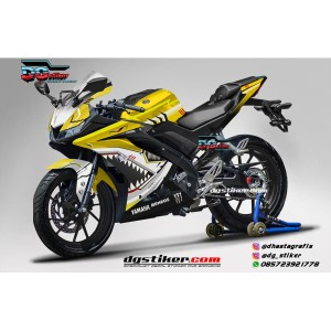 Decal Striping Full Body R15 V3 Kuning Shark Hitech DG Stiker