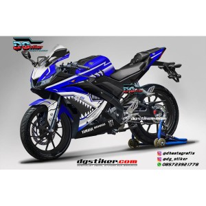 Decal Striping Full Body R15 V3 Biru Shark Hitech DG Stiker