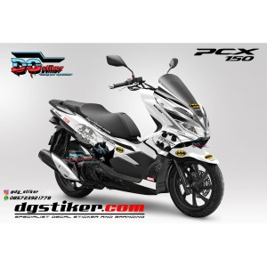 Decal Striping Pcx 150 Putih Batman DG Stiker