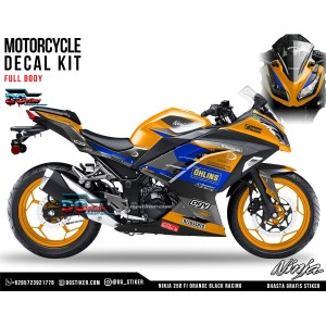 Decal Ninja 250 FI Orange Black Racing DG Stiker