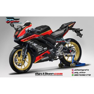Decal Striping Full Body R15 V3 Hitam Gold Simpel DG Stiker