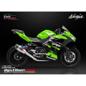 Decal Sticker New Ninja 250 FI Hitam Hijau Simpel DG Stiker