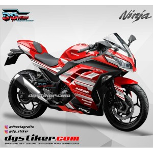 Decal Sticker Ninja 250 Fi Merah Racing Line DG Stiker