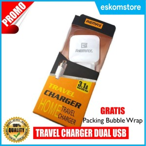 Remax Charger hp / Cas Hp / Adaptor dual USB slot 3.1A Type HX-370