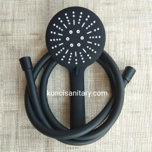 Shower set hitam / Hand shower kamar mandi black matte