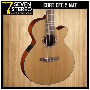 Cort CEC 5 CEC5 NAT Acoustic Electric Classic Guitar