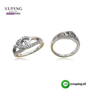 XUPING CINCIN MOTIF SILVER ZIRCON 0122190076