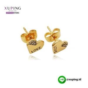 XUPING ANTING TUSUK MOTIF LOVE GOLD ZIRCON 0151190447