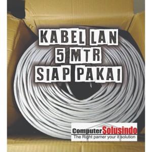 Kabel LAN UTP Merk SPECTRA 5MTR CAT 5E Plus Crimping Konektor RJ45 AMP