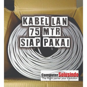 Kabel LAN UTP Merk SPECTRA 75MTR CAT 5E Plus Crimping Konektor RJ45 AM